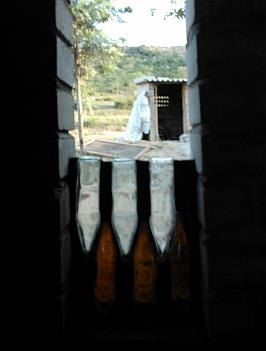 windows glass using discarded beer bottles