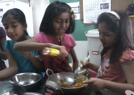 aarohi children cooking
